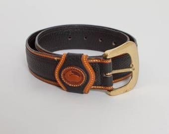 vintage Dooney & Bourke pebbled leather belt
