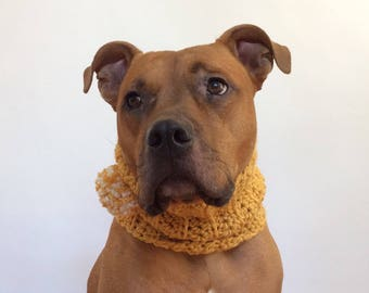 Dog Scarf, Knit Dog Scarf, Crochet Cowl for Dogs, Crocheted Dog Scarf, Dog Cowl, Winter Dog Snood, Dog Clothes