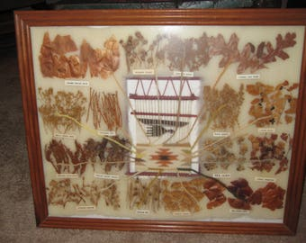 Handmade Native American natural dye chart for weaving-one of kind-sale