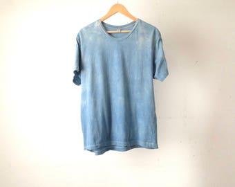 over-dyed INDIGO blue oversize SUMMER faded subtle tie dyed t-shirt