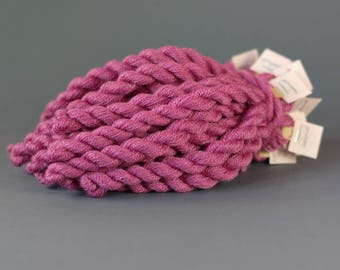 Hand-dyed embroidery yarn, natural dyes, wool, silk, cashmere thread, embroidery floss, 20m, COCHINEAL , purple color, 309