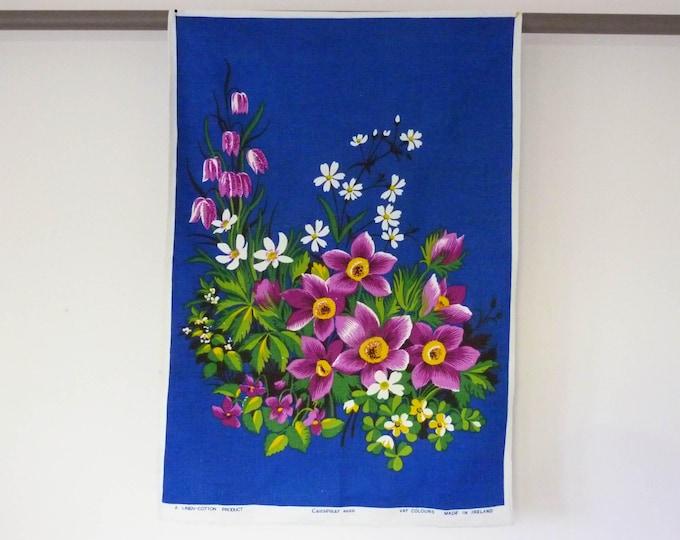 1970's Linen tea towel