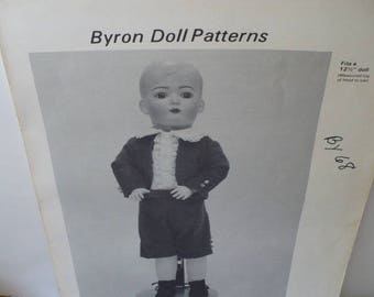 12 Half Inch Sewing Pattern Doll Gift, DIY Pattern Gift, Doll Clothes, Byron Tommy Tucker Doll Patterns, Doll Clothes Pattern,
