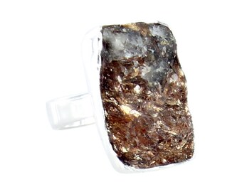 BRONZITE Ring Sterling Silver Drusy Size 6 New World Gems