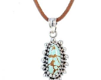 40% Off Sale : ) TURQUOISE #8 MINE PENDANT Necklace Teardrop #2 NewWorldGems