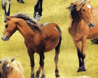 Greener Pastures Horses - Wilmington Prints - Fat Quarter