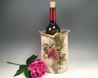 Wine chiller/ice bucket/kitchen utensil holder/vase/pottery vase/wedding gift/wine