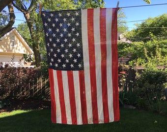 Vintage 50 Star American Flag, Small,