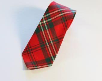 Tartan Tie. Made In Scotland. Rare Tie. Vintage 60s Tie. Dress Tie. Gogovintage. Free Shipping