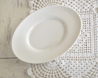 Small Ironstone Plate Oval White Plate Vintage Ironstone Platter