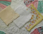 3 Vintage  Hankies Good Vintage Condition Lot 3389