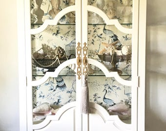 Royal White  China Cabinet - Sold