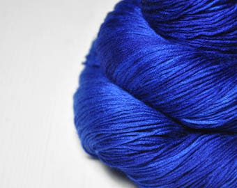 Completely shattered cobalt glass  - Silk/Cashmere Lace Yarn