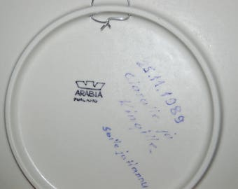 Searching for Info Only ~ Hand Labeled / Hand Signed Four Maidens 1989 Kalevala Annual Plate by Arabia of Finland NFS at this time