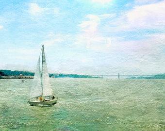 Boat Art, Fine art photography, vintage art, ocean art, beach art,  Beach Artwork, large artwork, beach house art, farmhouse chic art