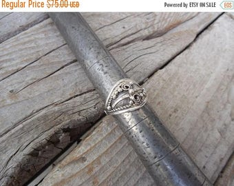ON SALE Feather ring handmade in sterling silver 925 with two feathers