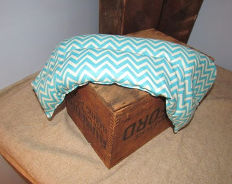 Blue Chevron  Reusable Rice Neck Heating Bag