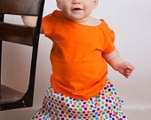 Sale Jazzy Baby PDF pattern - Ellie Inspired Pleated Skirt pattern with matching doll pattern - sizes Newborn-36 months