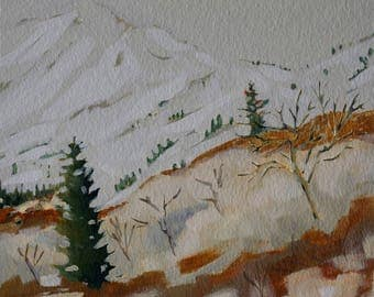 Original Painting Landscape Sundance Utah Acrylic Painting Original Painting 8x10 wall art