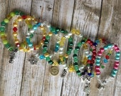 Custom Beaded Stacker Bracelet with Charm Disney Disbound Princess Marvel