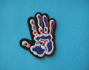 Iron-on Embroidered Patch Hand 2.25 inch