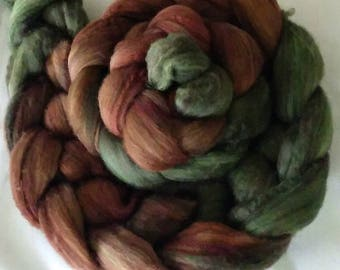 "Hand Dyed Yak/Merino 4 Oz.  ""Coppermine"""