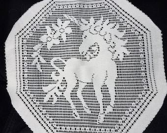 FREE Shipping, Unicorn, lace doily