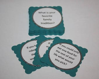 Family Conversation Starter Cards - Dinner table conversations