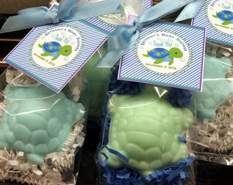 10 Turtle Soap Favors Party Favors  Baby Shower Bridal Shower Birthday Wedding Custom Party Favors