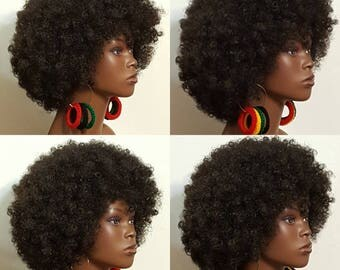 Cultural Rasta Colors Mega Mama 5 inch Light Weight Earrings by Razonda Lee Pan-African Rasta Jamaican
