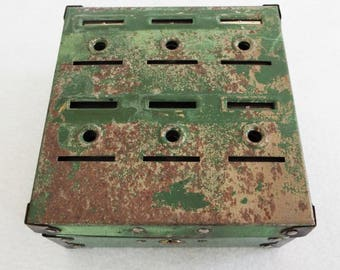 Vintage Rusty Cash Lock Box with Key and Change Boxes