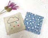 Two Tiny Lavender Sachets..... Rainbow Cloud
