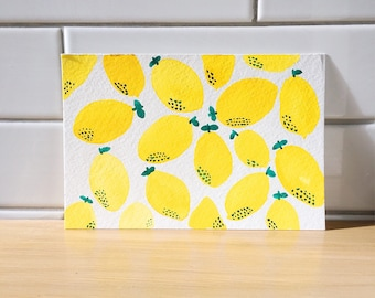 Lemons Watercolor Postcard - One of a Kind