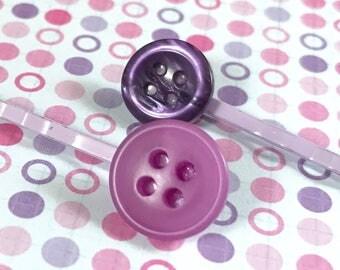 Purple bobby pins, hair pins, bobbie pins, kirby grips, hairslides