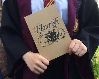 Flourish And Blotts Harry Potter A5 Notebook Recycled Paper