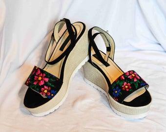 Platform Sandals Flower print Sandals Comfort Sandals in Flower print Orthopedic sandals