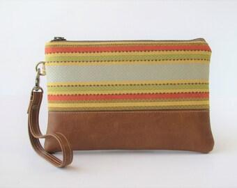 Wristlet Wallet, Phone Wallet, iPhone8 Wristlet, Wristlet Purse, Vegan Leather Purse, Boho Bag, Gift for Her, Mothers Day Gift