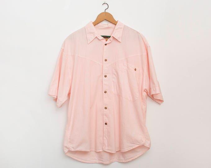 90s Nos vintage pink shirt boyfriend shirt