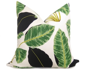 Jungle Leaf Pillow Cover - Green - Tropical Pillow - Mid Century Modern Pillow - Decorative Pillow - Throw Pillow - Palm Pillow - Boho