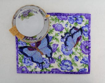 Butterflies and Flowers Mini Place Mat