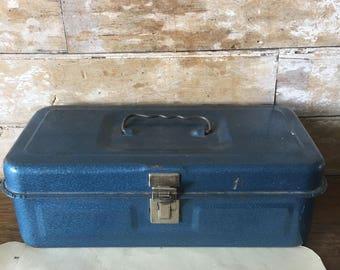 Vintage Metal Box Blue