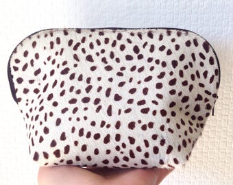 Cowhide Leather Make-Up Bag