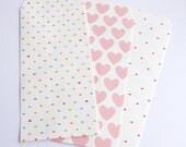 30% off - balance - envelopes rectangle wrapped gift box-choice gift bag: heart or squared