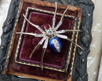 Vintage Spider Brooch, A Weaving Talisman for the Elemental Woman, offered by RusticGypsyCreations