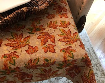 Thanksgiving Tablecloth | Thanksgiving Decorations | Rustic Fall Decor | Thanksgiving Centerpiece | Thanksgiving Table Runner | Home Decor