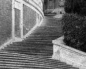 "CUSTOM ORDER Black & White Travel Photography 7x5 of the Spanish Steps ini Rome Italy - ""The Spanish Steps 1"""