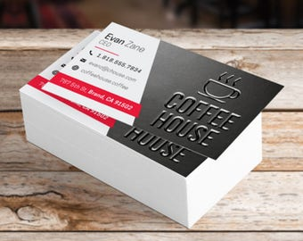 Suede with Raised UV Business Cards, Calling Cards