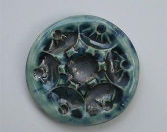 Handcrafted Ceramic Blue Cabochon 0481017
