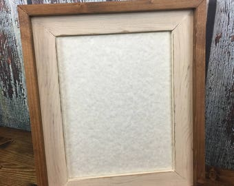 8.5 x 11 Cream Rustic Stacked And Stained Picture Frame, Rustic Home Decor, Rustic Wood Frames, Home Decor, Wooden Frames, Rustic Frames