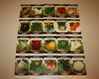 Lot of 20 Vintage Unused 1920s Seed Packs; Card Seed Co., Fredonia NY Warehouse Find!